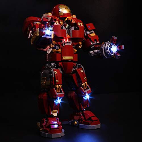 Searchyou Licht Set Kompatibel Mit Lego Marvel Super Heroes 76105 Der Hulkbuster: Ultron Edition (Lego-Modell Nicht Enthalten, Lego-Zubehör von Drittanbietern)