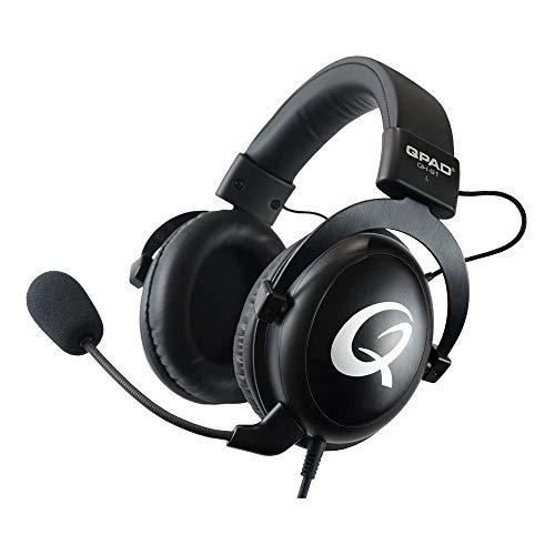 QPAD QH-91 Pro Gaming Premium Headset, Kopfhörer für PC Spieler mit 53 mm Stereo Sound, Schwarz
