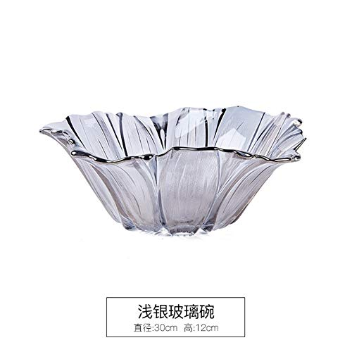 Creatieve decoratie Modern Luxe Dazzling Leaf Fruit Borden Grote Europese Hoogwaardige Glass Fruit Bowl in Scandinavische stijl woonkamer koffietafel Household transparant kristal Fruitmand hjm shuigu