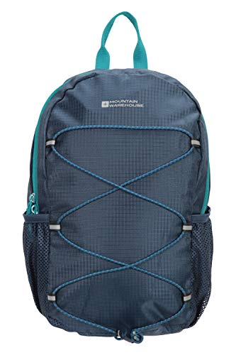 Mountain Warehouse Trek 8L Backpack - Padded Airmesh Back, Cute, Rucksack Small Bag Teal