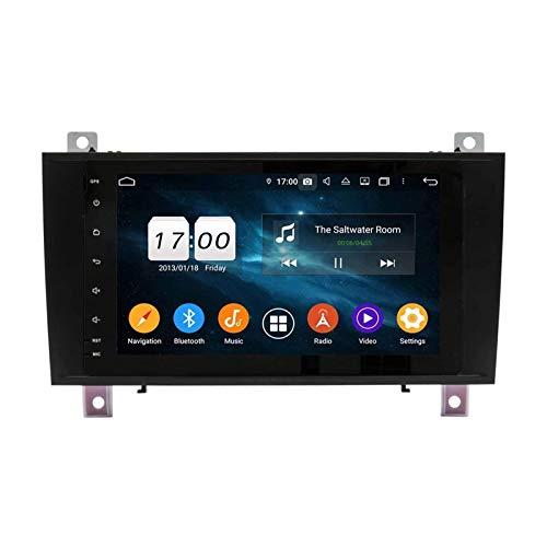 unità Principale Touch Screen Stereo per Autoradio da 9 Pollici per Mercedes Benz SLK R171 W171 2000-2011, Navigazione GPS/BT/WiFi/Mirrorlink/SWC/Telecamera Posteriore,4 core-4G+WiFi: 1+16G