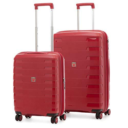 Roncato Spirit - Juego de 2 maletas rígidas con 4 ruedas extensibles con cierre TSA ultraligero