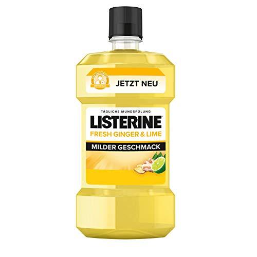 LISTERINE® FRESH GINGER & LIME (600 ml), Antibakterielle Mundspülung, milder Geschmack mit natürlichem Ingwer- und Limettenextrakt