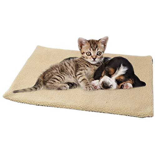 Wärmematte Selbstheizende Decke für Katzen Hunde 60x45cm Katzendecke Hundedecke Selbstwärmende Thermal Decke Waschbar