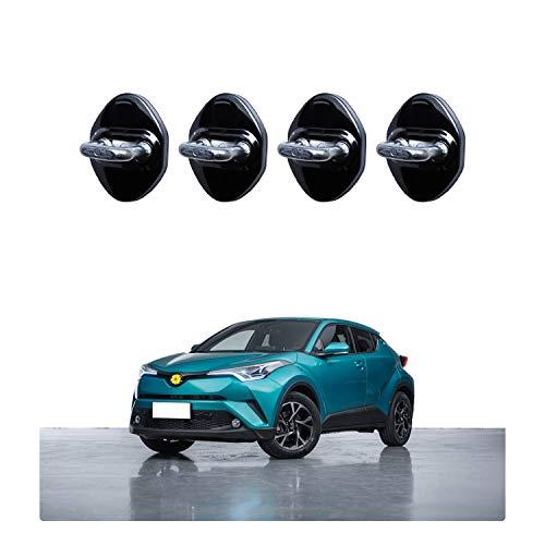 CDEFG [4 PCS] CHR C-HR 2016-2020 Acero Inoxidable Auto Türschloss Cobertura Door Lock Cover Accesorios Türverriegelung Cobertura (Azul) (Negro)