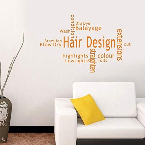 ASFGA Einzigartige Friseur Aufkleber benutzerdefinierte Rippen Brot Aufkleber Poster Vinyl Wandkunst Dekoration Fenster Dekoration Brief Glas Aufkleber 58x90cm
