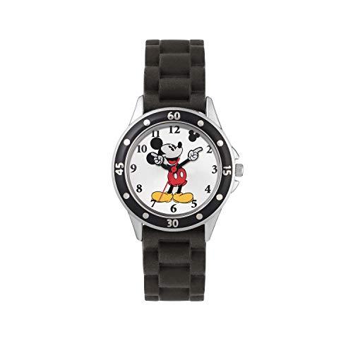 Mickey Mouse Kinder Analog Quarz Uhr mit Gummi Armband MK1195