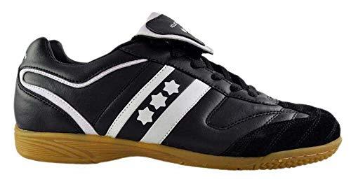 Rucanor Champ-In - Scarpe da ginnastica, unisex, colore: nero/bianco, taglia 46
