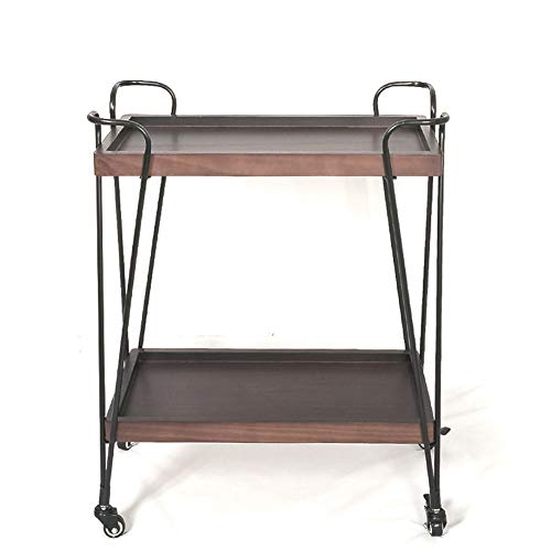 YZJJ 2-Tier Rolling Kitchen Cart, Microwave Storage Rack Utility Service Cart for Living Room, Bedroom and Office