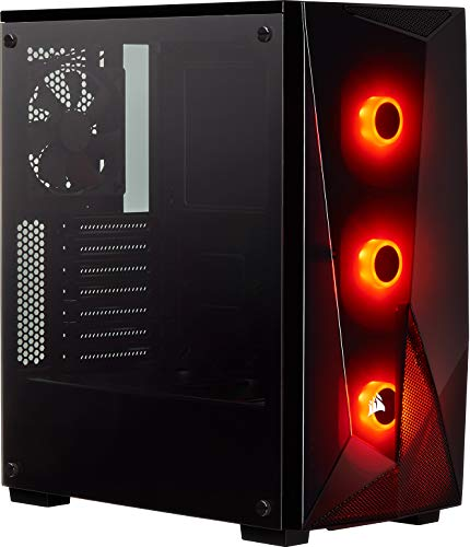 Corsair Carbide Series SPEC-DELTA Case da Gaming Mid-Tower RGB, Vetro Temprato, Nero