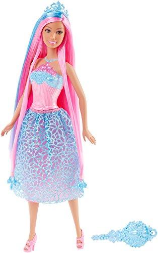 Barbie Mattel DKB61 - Modepuppen, 4 Königreiche, Zauberhaar Prinzessin, blau