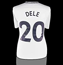 Dele Alli Back Autographed Signed Tottenham Hotspur 2017-18 Home Shirt With Fan Style Numbers - Certified Authentic Soccer Signature