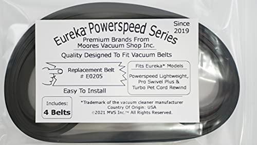 Eureka #E0205 Powerspeed Vakuum-Gurte, leicht, Pro Swivel Plus & Turbo Pet Cord Aufwicklung Vakuumriemen, 4 Stück