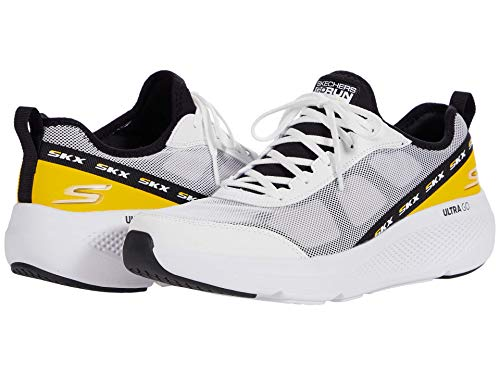 Skechers Men's GOrun Elevate-Lace Up Performance Athletic Running & Walking Shoe Running, White/Black, 9.5