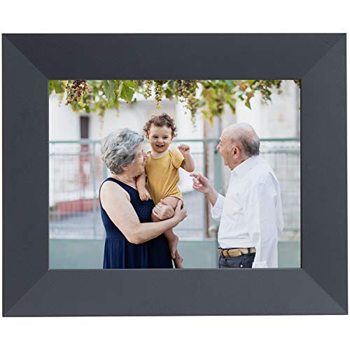 "Aura Digital Photo Frame, 10"" HD Display New 2019, 2048 x 1536 Resolution with Free Cloud Storage, Oprah's Favorite Things List 2X, Sawyer Shale WiFi Picture Frame"