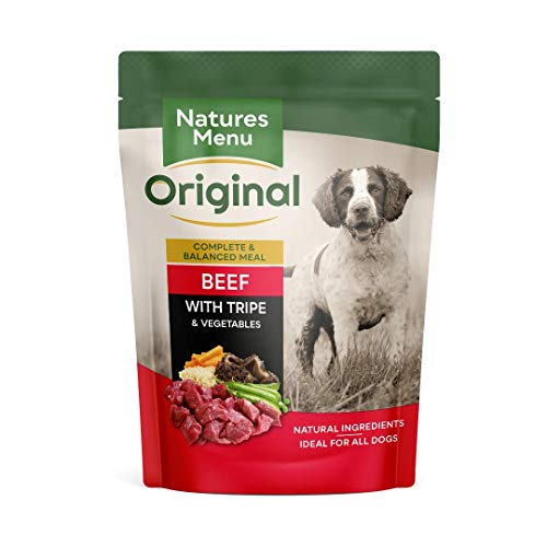 Natures Menu Dog Adult Pouch Beef Tripe Vegetables & Rice 8x300gm
