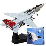 LJHLJH American Classic de Combate F14 de aleación Modelo de Set, 1: 100 del Modelo de Escala a Todo Color, Revista, Colgantes Bomba Diseño,F14