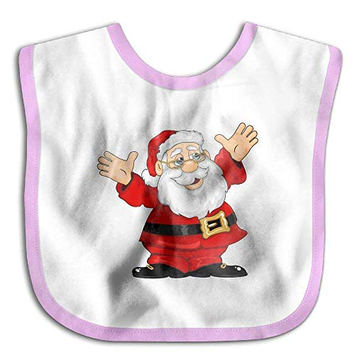 Ugly Christmas Santa Claus Funny Baby Bibs Burp Infant Drool Bibs