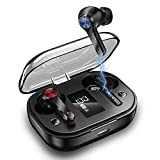 True Wireless Earbuds Bluetooth 5.1 in Ear Headphones ONOW IPX5 Waterproof TWS Stereo Earphones 48H Playtime Built in Mic Headset CVC8.0 Noice Cancelling Earbuds with Touch Control for Sports Workout