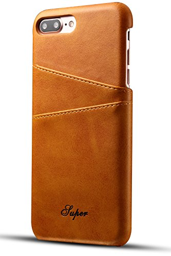 iPhone 8 Plus / 7 Plus Wallet Phone Case, XRPow Slim PU Leather Back Protective Case Cover With Credit Card Holder for iPhone 8 Plus