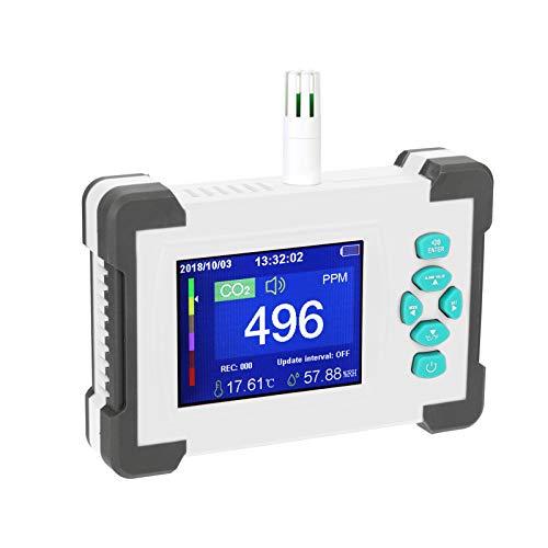 Digitaler CO2-Detektor-Tester-Monitor, tragbarer Kohlendioxid-Messgerät Luftqualitätsdetektor mit Aufbewahrungskoffer