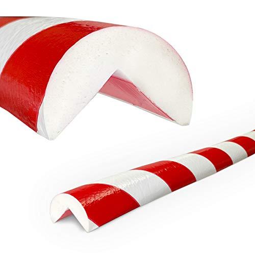Betriebsausstattung24® Eckschutzprofil Typ A | rot/weiß | selbstklebend | Länge: 1,0 m
