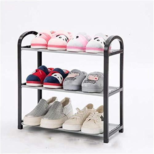 Ranuras de zapato ajustables Organizador Bastidore Rack de zapatos 3 Capa Calidad No tejida Zapato de zapatos portátil Impermeabilización Polvo a prueba de polvo Organizador Titular de Zapatos Estante