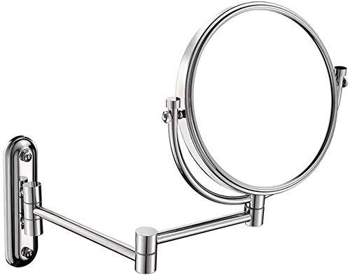 Miroir Miroir Miroir Tenture pliant télescopique Miroir toilettes double face Zoom esthétique objectif 8 pouces d'imagerie à haute définition est pas facile à 8 pouces Brouillard Simple et pratique