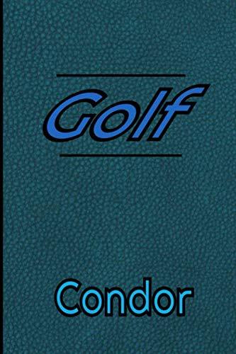 Golf condor: Carnet de bord GOLF Journal pour suivre vos résultats et noter vos statistiques de chacun de vos parcours