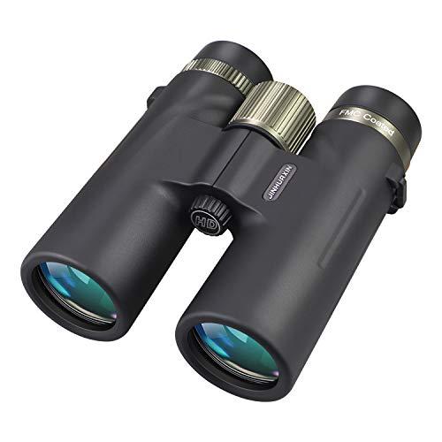 Jinhuaxin Fernglas, 12x42 HD Kompakte Ferngläser, Ferngläser Wasserdicht für Vogelbeobachtung, Wandern, Jagd, Sightseeing, Doppel Metall Prozess Fokussierrad, inkl Tragetasche, Smartphone-Adapter