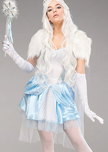 Magic Box Disfraz de Reina de Nieve Linda de Navidad para Mujer M ...