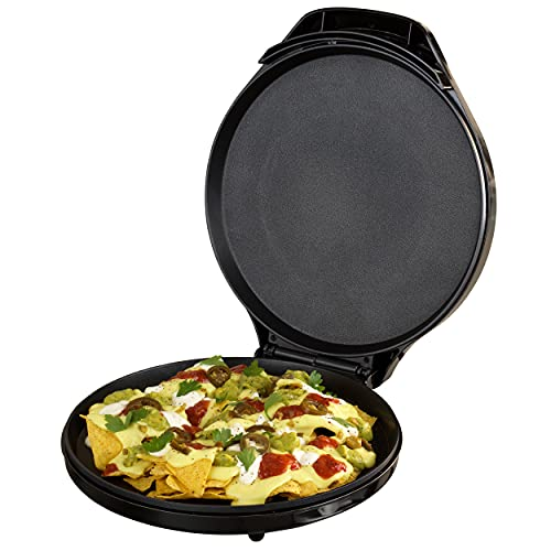 Progress EK4354P Family Multi-Grill, Multicooker with XL Cooking Surface, Electric Pizza Pan, Non-Stick Pancake Maker, Adjustable Temperature Controls, Perfect for Pizzas/Nachos/Fajitas/Omelettes