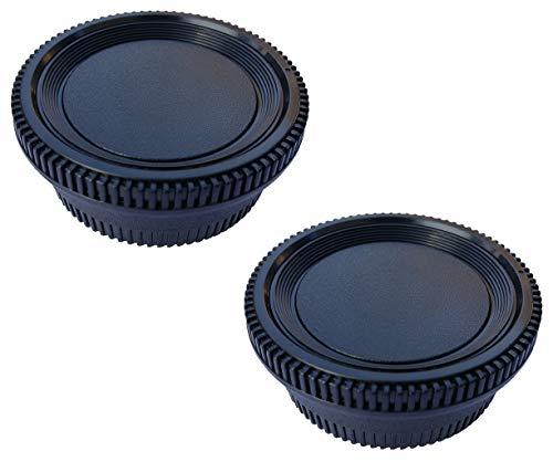 Camera Body Cap and Rear Lens Cover for Nikon D5100 D750 D350 D80 D7000 D850 D810 D800 D750 D600 D3500 D3400 D3300 D3200 D3100 D5600 D5500 D5300 D5200 D90 D80 D70 D70S Nikon F/AI Mount DSLR[2 Sets]