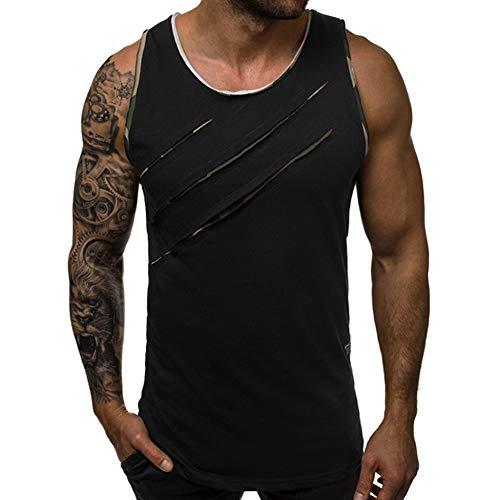 Herren Tank Top Tanktop Tankshirt Ärmellos Bodybuilding Shirt Fitness Trainingsshirt Funktion Gym Muskelshirt Sleeveless Shirts Rundhals Achselshirt Sport Weste 3XL