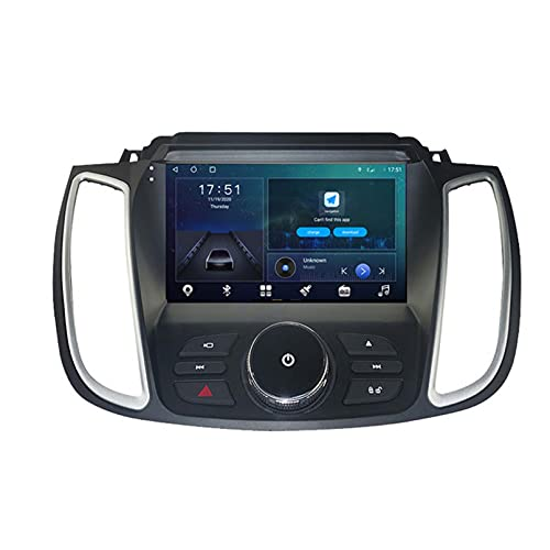 GOHHK Android 10 Radio De Automóvil para Ford Kuga 2 Escape 3 2012-2019 GPS Multimedia Multimedia Auto Player Carplay Estéreo OBD Bluetooth 9'(Size:Ocho núcleos,Color:WiFi:4GB+64GB)