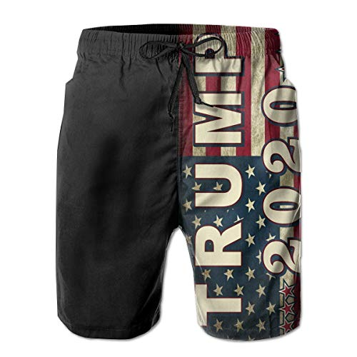 Hdecrr FFRE Trump 2020 Fuck Your Feeling Men Summer Casual Board Shorts Quick Dry Swimming Shorts with Pockets White