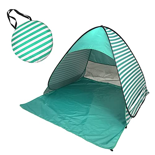 Portable Sun Shelter Anti UV Beach Umbrella Baby Tent ,Portable Automatic Set-up Camping Beach Shade Tent Outdoor UV Protection Tents (A, One Size)