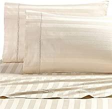 Wamsutta Dream Zone Stripe 1000-Thread-Count PimaCott Queen Sheet Set in Ivory