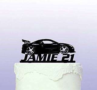 Personalised Tricked-Up Car Acrylic Cake Topper For Wedding Birthday Party Graduation Baptism Celebration Decor