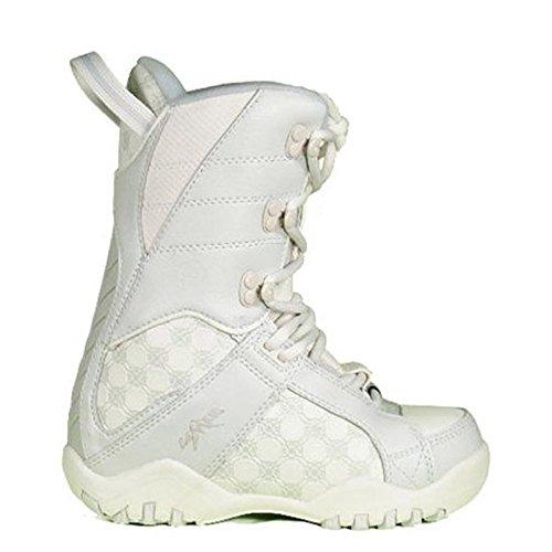 Lamar Justice White Creme Snowboard Boots Youth 6= Womens 7 (Justice White Creme (nio26), Youth 6= Womens 7)