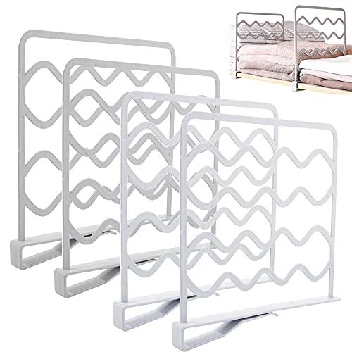 YUSHIWA Separador de estantería para armario (4 unidades)