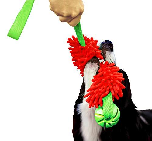 Dingo Red Mop Bite Tug for Agility Dog Fun Hundespielzeug