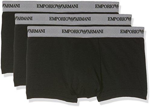 Emporio Armani Underwear Herren 111357CC717 Retroshorts, Schwarz (Nero 00120), Small (Herstellergröße: S) (3er Pack)