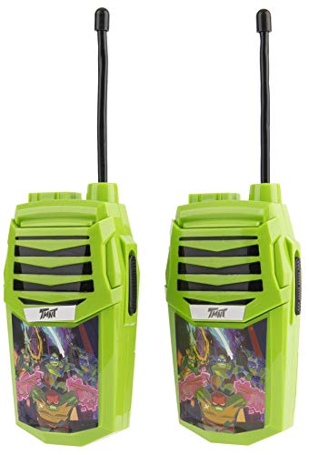 Teenage Mutant Ninja Turtles Molded Walkie Talkies for Kids WT2-01082 | Safe and Flexible Antenna, 1000ft Range, Easy-to-Use Power Switch, Belt Clip, Pack of 2, Stylish Appearance, 2-Pack