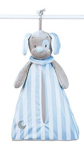 Nattou luiertas voor babykamers voor jongens Toby de hond blauw