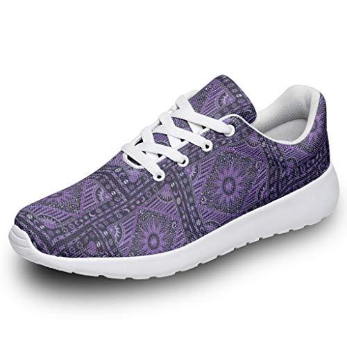Unisex Sportschuhe Sonnenmedaillon Weissagung Tarot Lila Mandala Design Turnschuhe Laufschuhe Bequem Straßenlaufschuhe Wanderschuhe Trainers Sneakers White 37