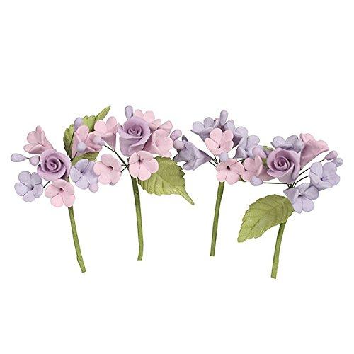 Partycakes4u 4 x Pastel de Flores de Color Lila para Aniversario de Bo