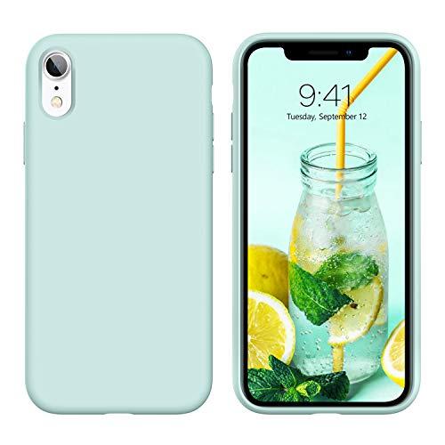 YINLAI iPhone XR Hülle Silikon,Handyhülle iPhone XR Slim Schutzhülle Slim Hülle Cover Liquid Silikon Gel Matte Kratzfest Hüllefür iPhone XR 6.1 Zoll,Baby Mint