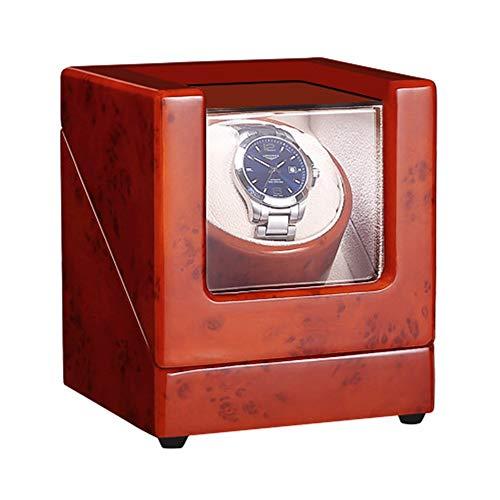 ZNND Caja Enrolladora Reloj Individual para Reloj Automático Almohadas Suaves Y Flexibles para Relojes Fuente Alimentación Dual Motor Silencioso (Color : Brown)