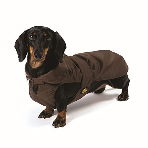 Fashion Dog Hundemantel speziell für Dackel - Braun - 39